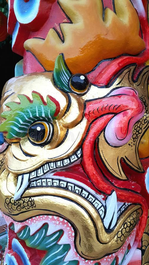 Close up head of chinese dragon vector illustration