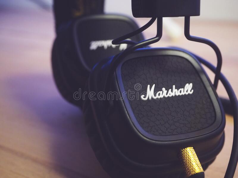 Close Up of Headset royalty free stock image