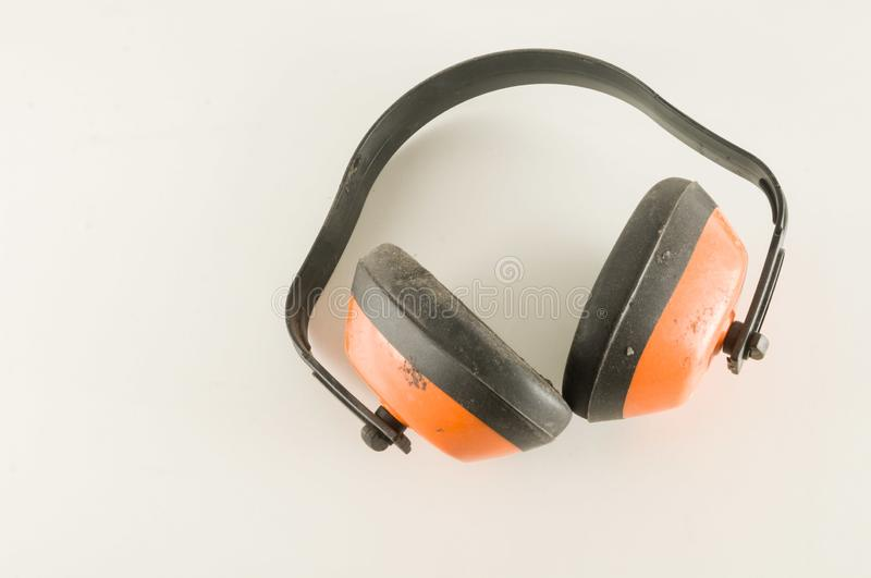 Close-up of headset. Object on a White Background stock photography