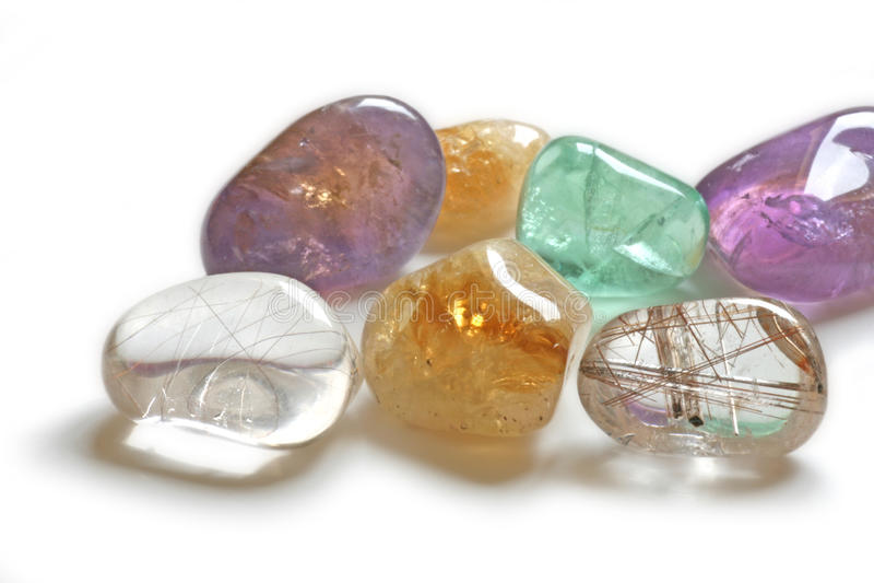 Close up of Healing Crystals stock image