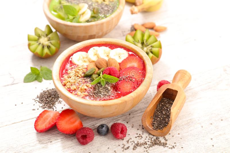 Healthy smoothie bowl stock images