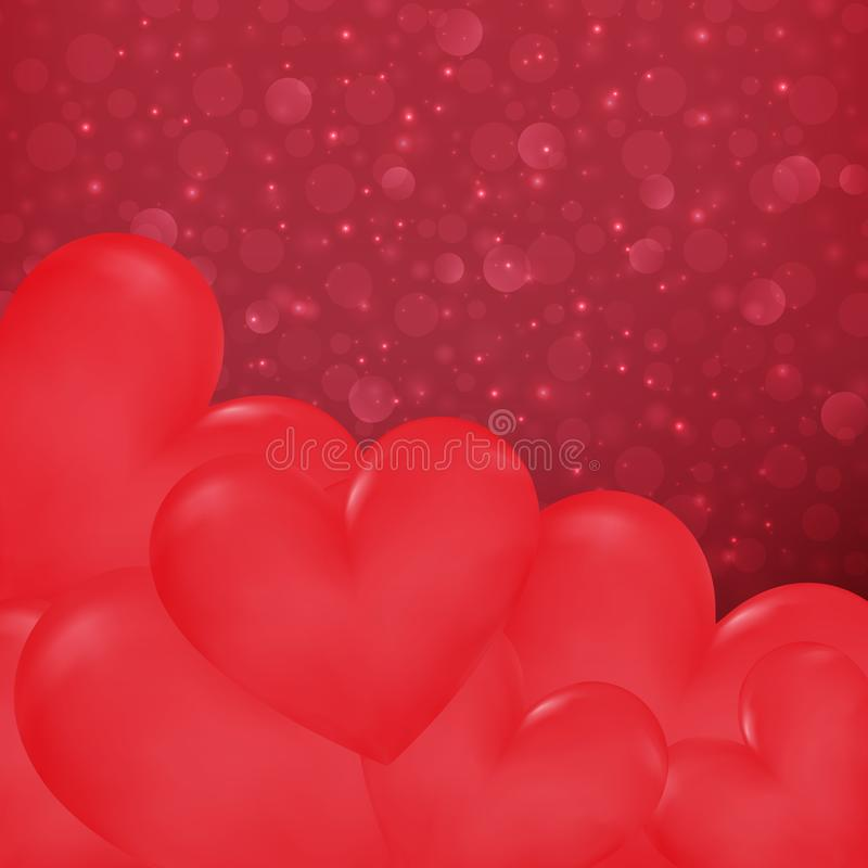 Close up hearts in Valentines day background. Illustration vector, eps10 vector illustration