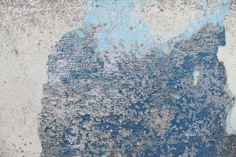Close up high resolution surface of aged and weathered paint on a wall. Somewhere in europe stock image