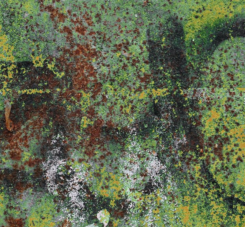 Close up high resolution surface of aged and weathered rusty metal and iron royalty free stock image