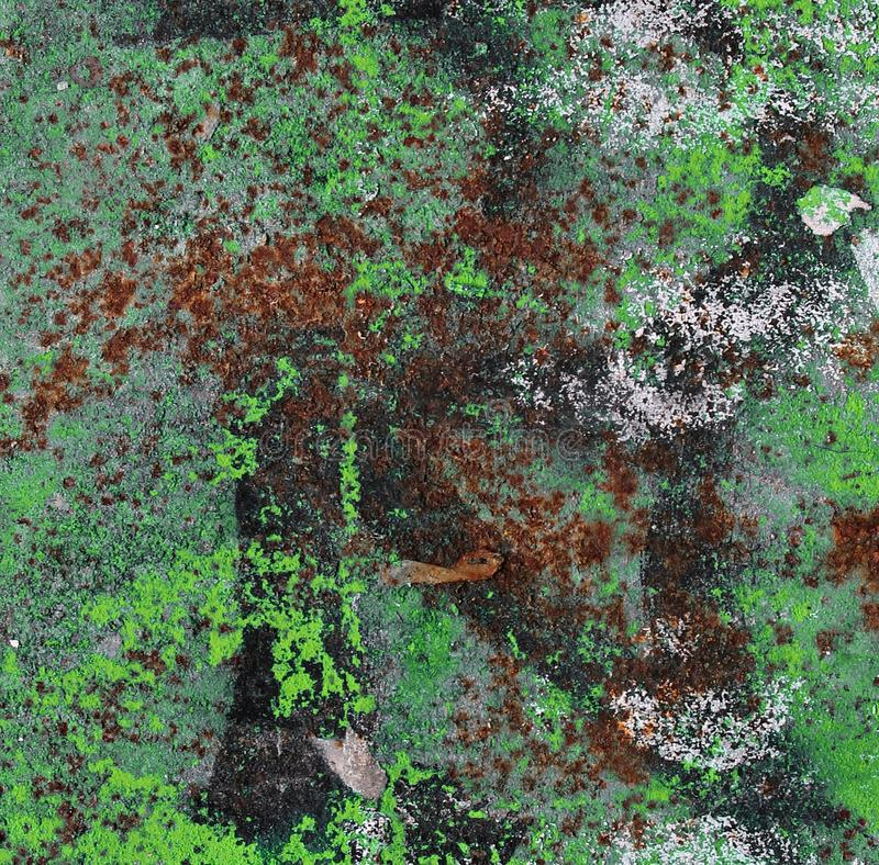 Close up high resolution surface of aged and weathered rusty metal and iron royalty free stock photo