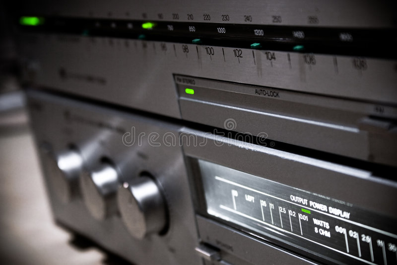 Close up of home sound system stock photography