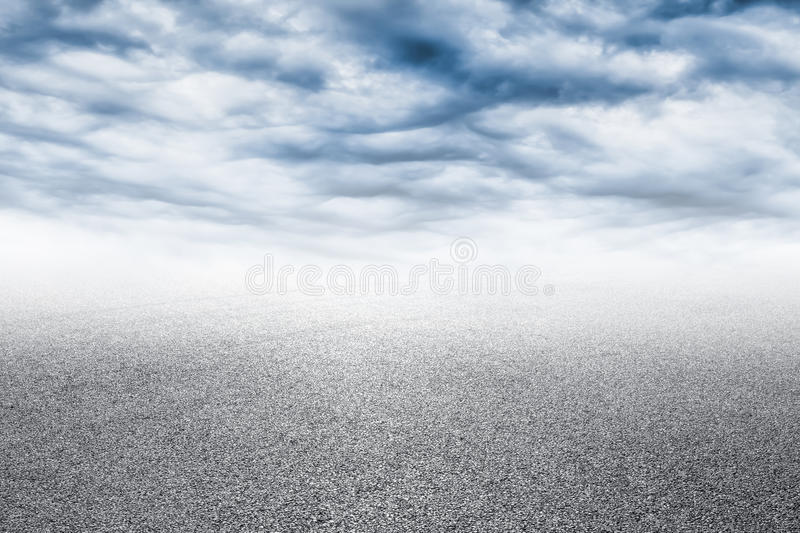Close-up horizontal view of new asphalt road.  stock photography