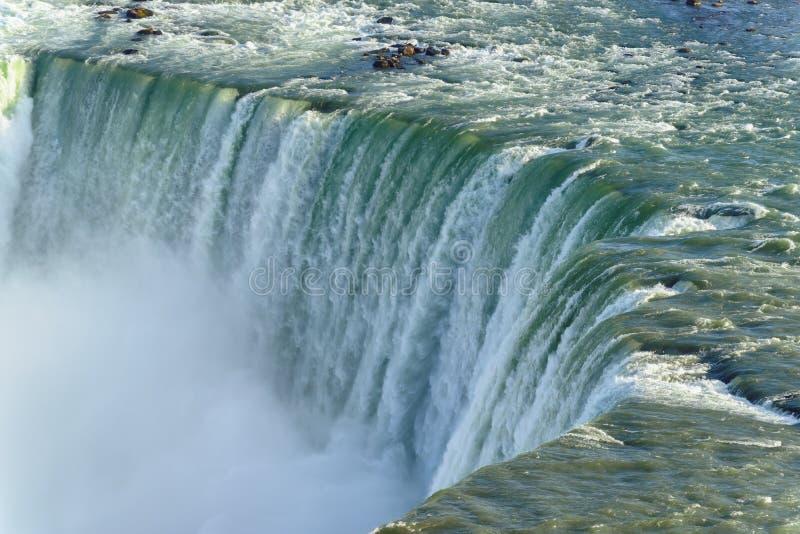 Close up of Horseshoe Falls, Niagara Falls, Canada stock images