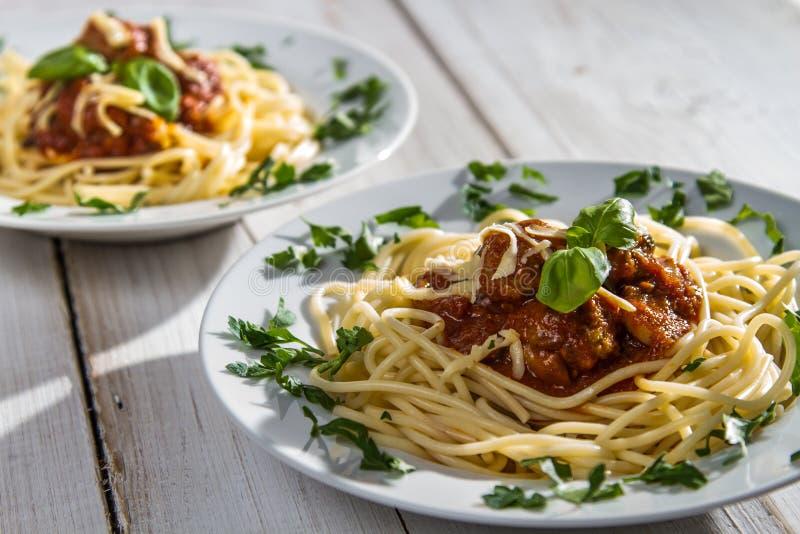Close-up of hot spaghetti royalty free stock photos