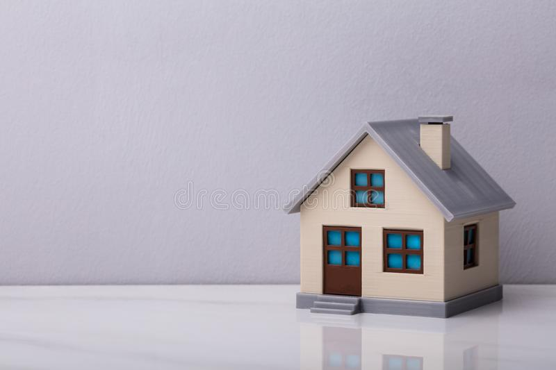 Close-up Of A House Model. Against White Background stock photos