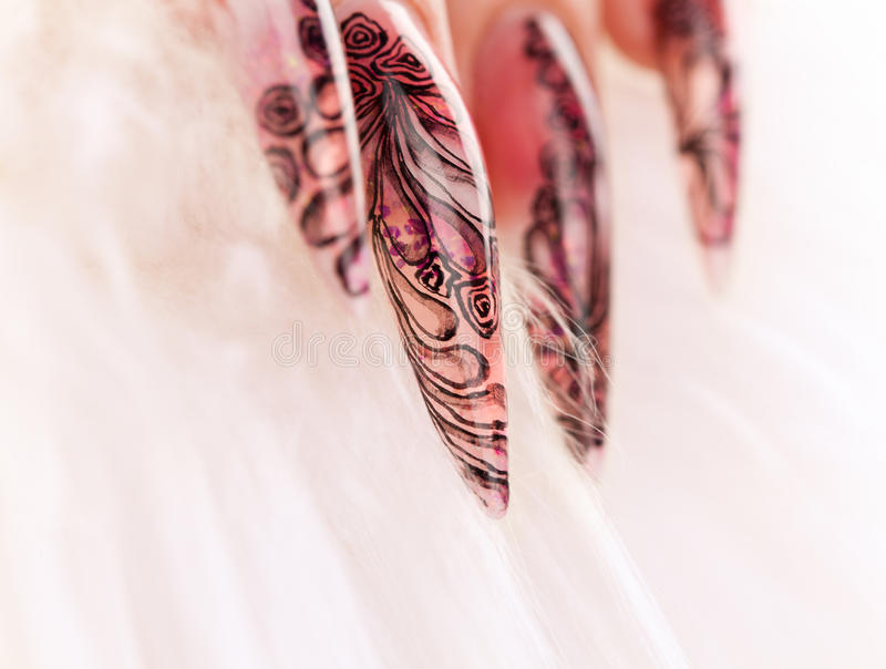 Download Close-up Human Fingernail With Beautiful Manicure Royalty Free Stock Images - Image: 12674659