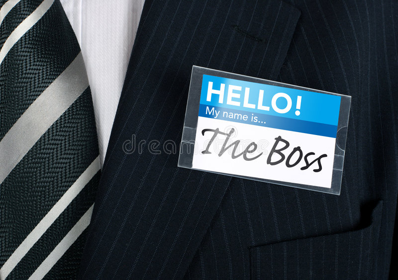 Close-up of a humorous nametag royalty free stock photography