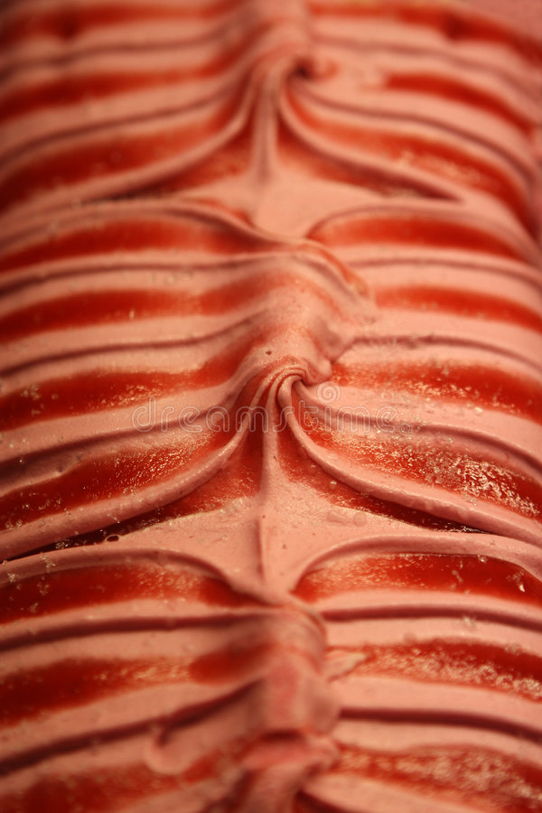 Close up of an ice cream. In the pastry shop stock images