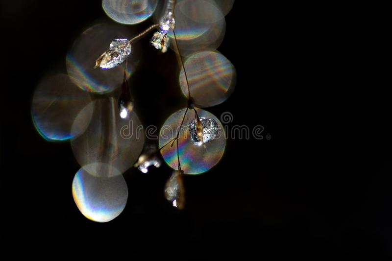 Close up of ice crystals like sparkling diamonds royalty free stock photos