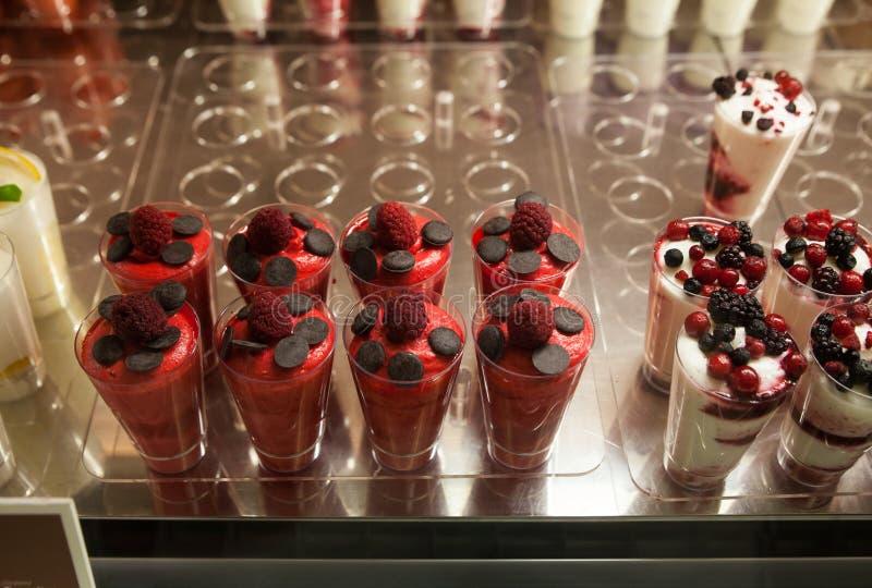 Close up of icecream dessert stock photography