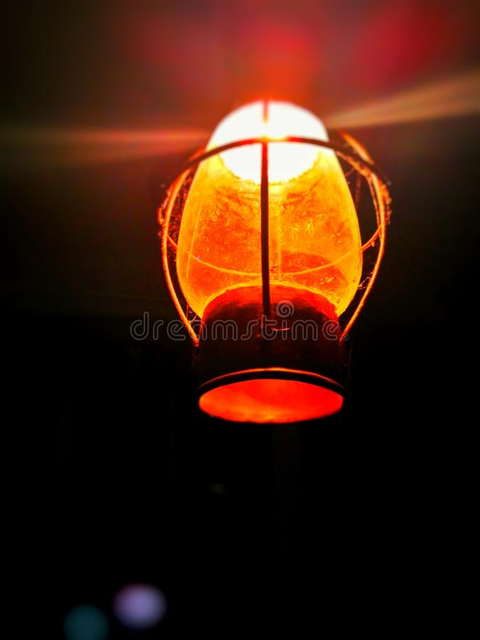 Close-up of Illuminated Lantern at Night royalty free stock images