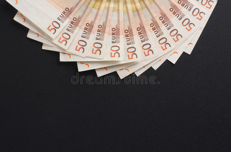 A Close-up Image Of 50 Euro Money Bank Notes Royalty Free Stock Photography