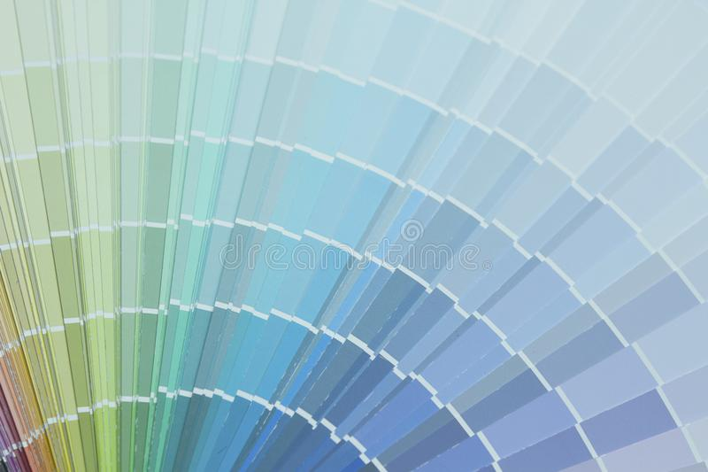 Color palette guide or color samples. Close up image of color palette guide or color samples royalty free stock image