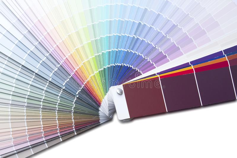 Color palette guide or color samples. Close up image of color palette guide or color samples stock photos