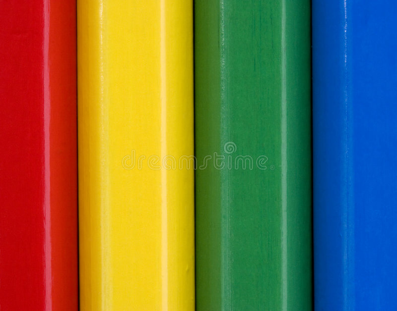 Close up image of colourful pencils stock photography