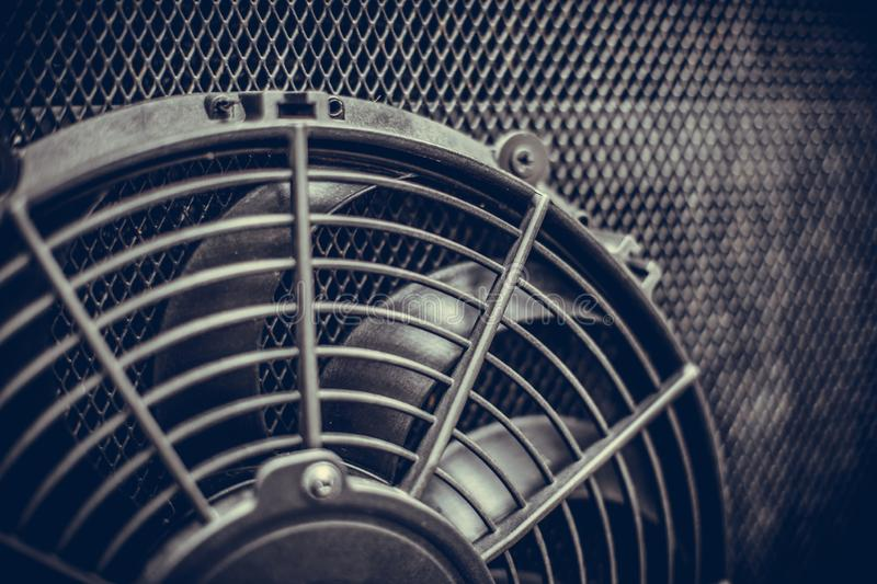 Engine cooling fan of a bus royalty free stock images