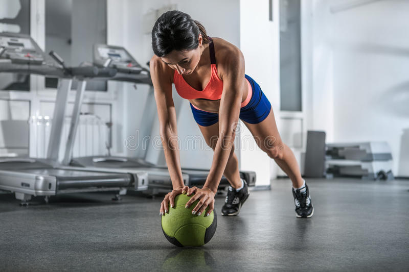 Close up image of fitness female royalty free stock images