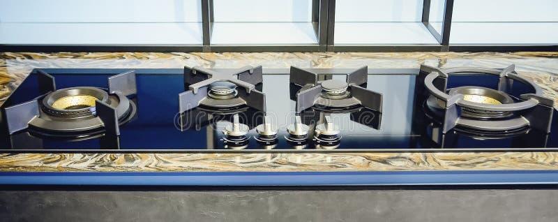 Close up image of gas stove. Close-up stock photos