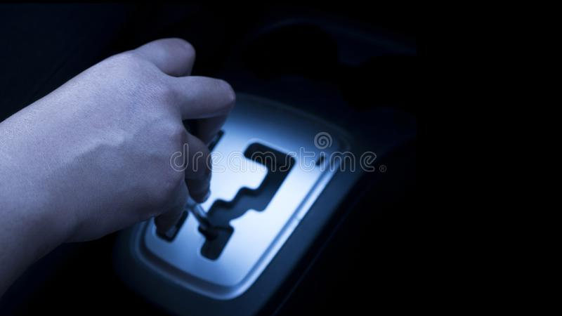 Automatic Car Gear Shift Transmission stock image