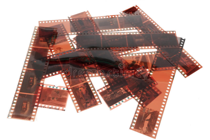 Old 35 mm negative film strip royalty free stock photography