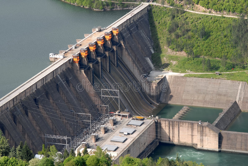 Download Close Up Image Of A Water Barrier Dam Stock Photo - Image: 5235364