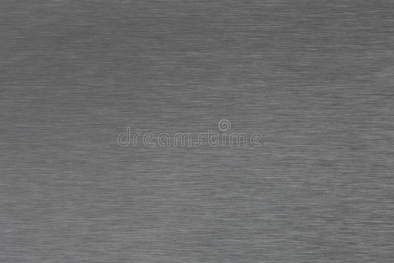 Close up industrial background of fractally scratched direct horizontal lines to silver metal/stainless steel surface. royalty free stock photography
