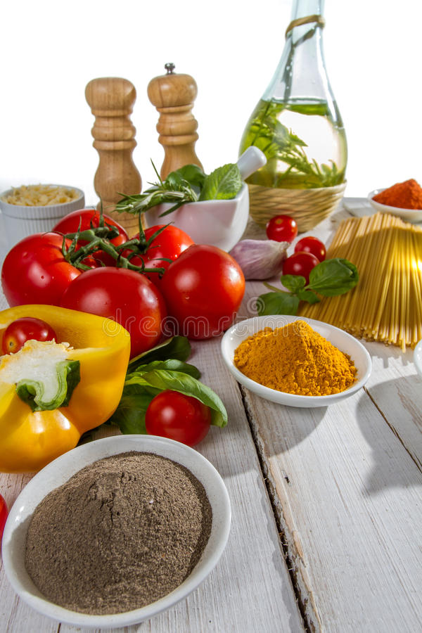 Close-up of the ingredients royalty free stock photography