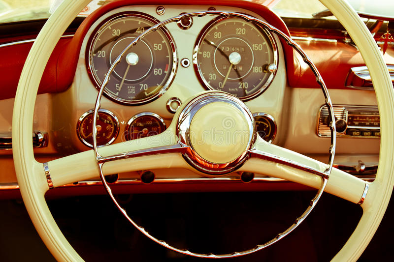 close up interior vintage car editorial photography image of closeup stylish 31483352. Black Bedroom Furniture Sets. Home Design Ideas