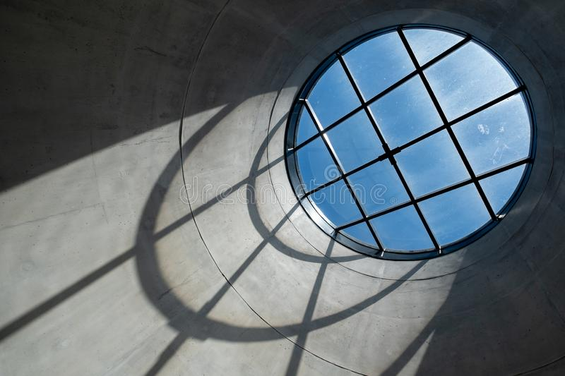 Close up of the interior of the Zeitz Mocaa Museum of Contemporary Art Africa, on the V&A Waterfront, Cape Town, South Africa. Close up of the interior of the royalty free stock images