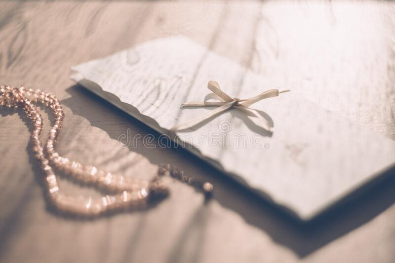 Close-up of Invitation Card royalty free stock photos