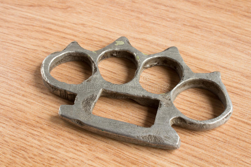 Close up of an iron knuckles royalty free stock image