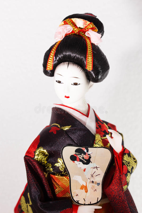 Close up Japanese doll stock image