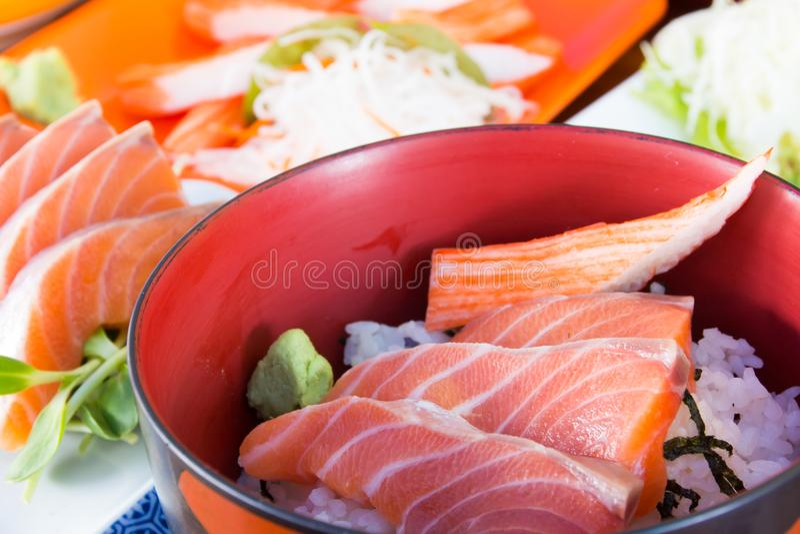 Japanese food sashimi stock photos