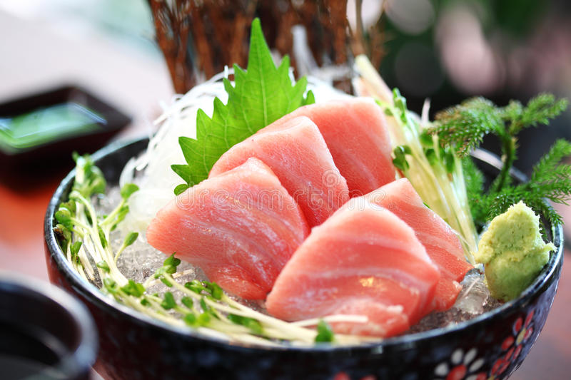 Close up japanese food from tuna royalty free stock photos