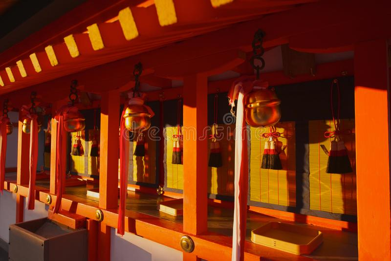 Close up of a Japanese shinto shrine stock images