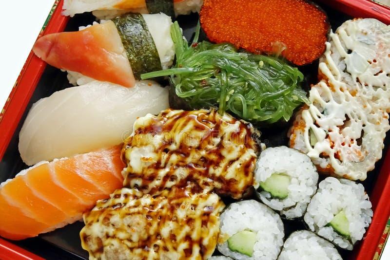 Close-up of Japanese sushi royalty free stock image