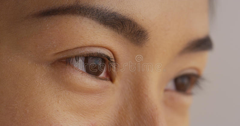 Close up of Japanese woman's face royalty free stock photo