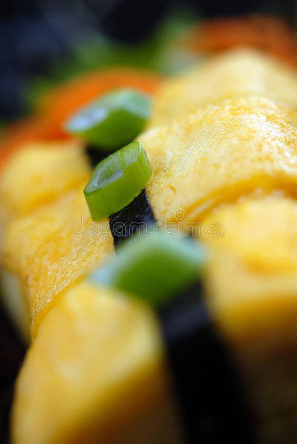 Close up japonês do sushi foto de stock