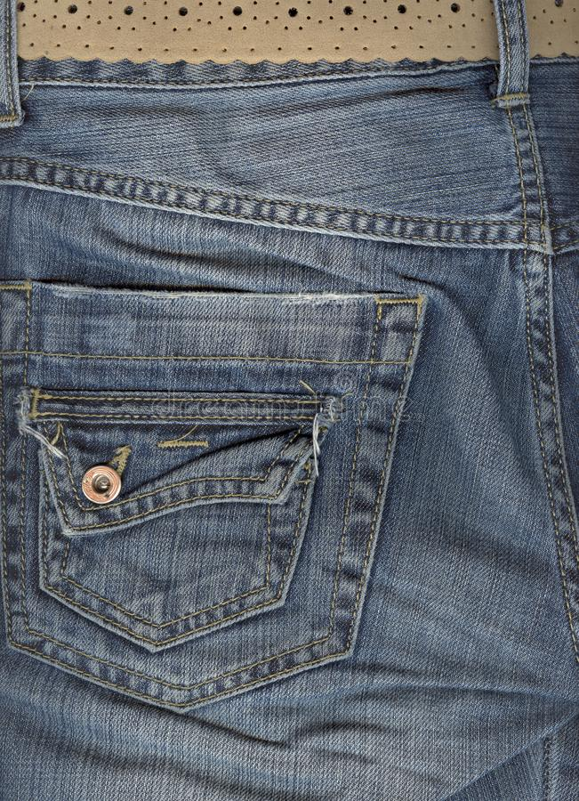 Download Close Up Of Jeans Back Pocket. Stock Image - Image: 6469915