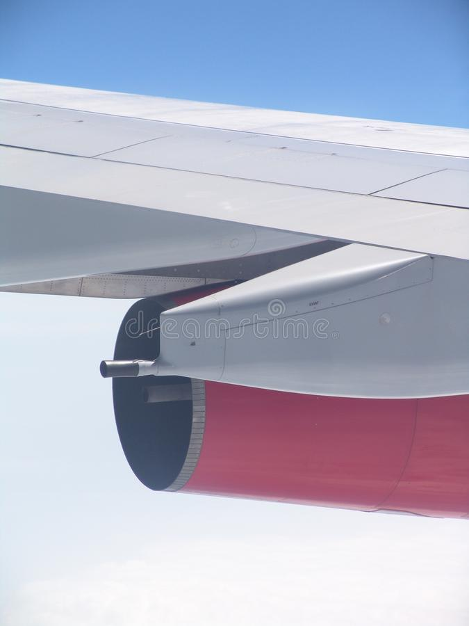 Close up of Jet Engine tail stock images