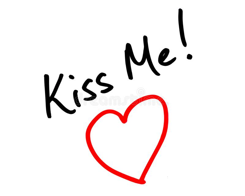 Kiss Me stock images