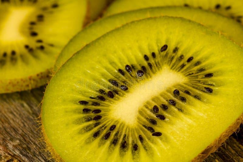 Close up of Kiwi Slices. Close up of kiwi fruit slices stock photo