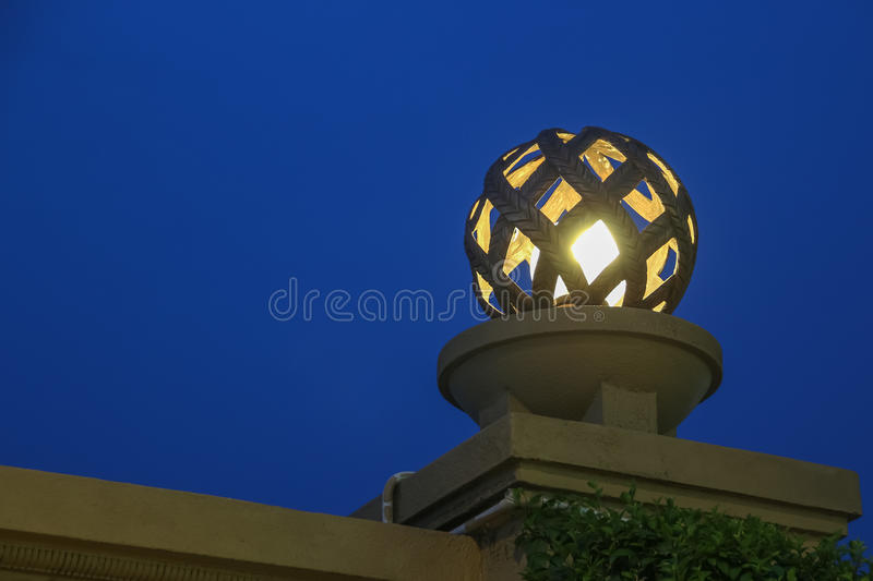 Close up of lamp with light bulb luxury style classic style stock photography