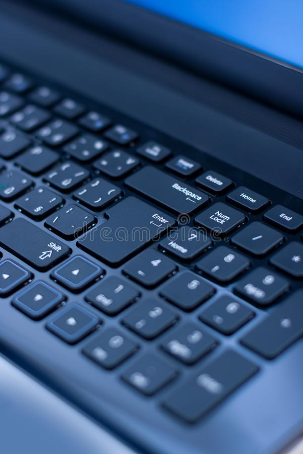 Close up of a laptop keyboard stock images