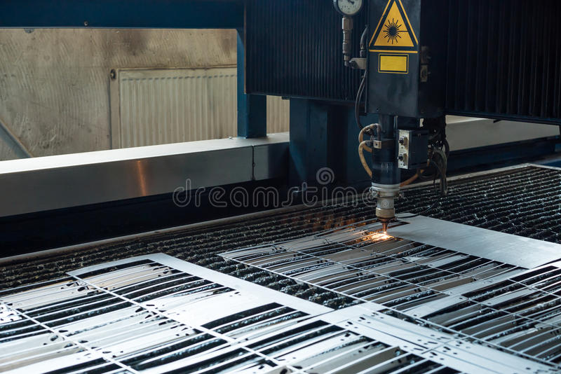 Close-up of laser cutting royalty free stock photos